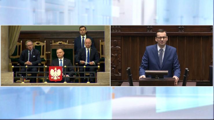 """Morawiecki składa wniosek o wotum zaufania. """"Nauczcie się języka polskich interesów!"""""""