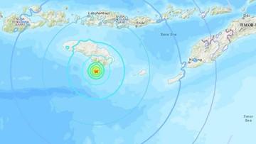 Znów trzęsienie ziemi w Indonezji. Wstrząsy w pobliżu wyspy Flores