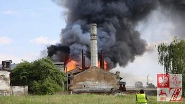 Spłonął dawny pałac Sapiehów w Grodnie