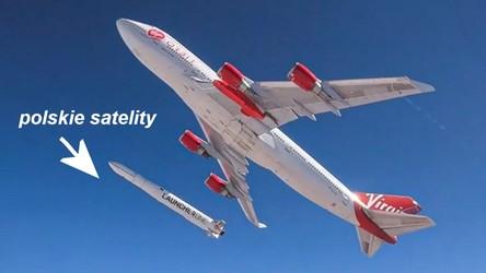 Polskie satelity zostaną posłane w kosmos z pokładu JumboJeta Virgin Orbit [FILM]