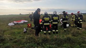 Wypadek paralotni w Wielkopolsce. 55-letni pilot został ranny