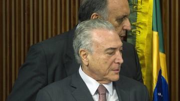 """Afera """"taśmowa"""" w Brazylii. Prezydent nalegał na zgodę na budowę luksusowego apartamentowca"""