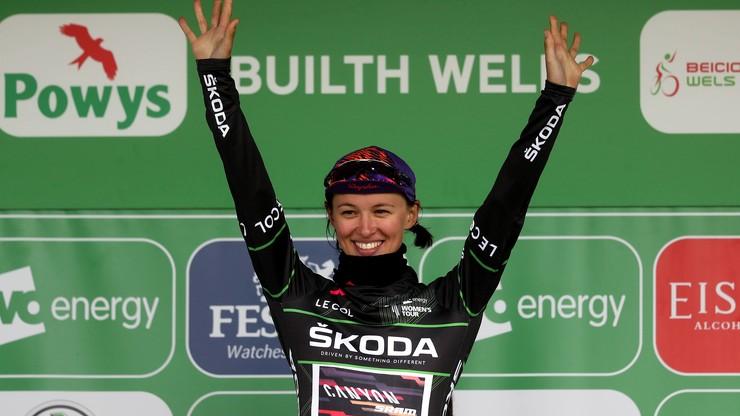Katarzyna Niewiadoma na drugim stopniu podium Giro d'Italia kobiet