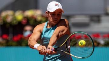 WTA w Madrycie: Barty pierwszą finalistką