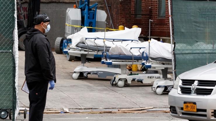 Blisko pół tysiąca nowych zgonów z powodu koronawirusa w stanie Nowy Jork