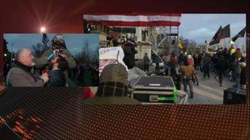 Korespondentka Polsat News: budynek Kapitolu zabezpieczony, kilkanaście osób aresztowanych
