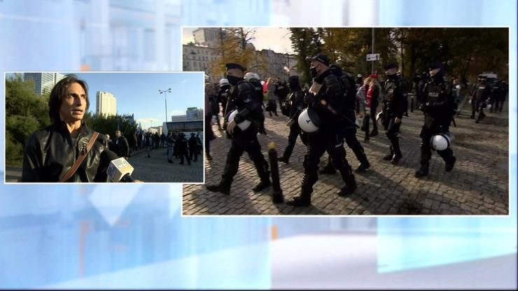 Protest przeciwników obostrzeń. Komarenko: ludzie nie wytrzymują psychicznie