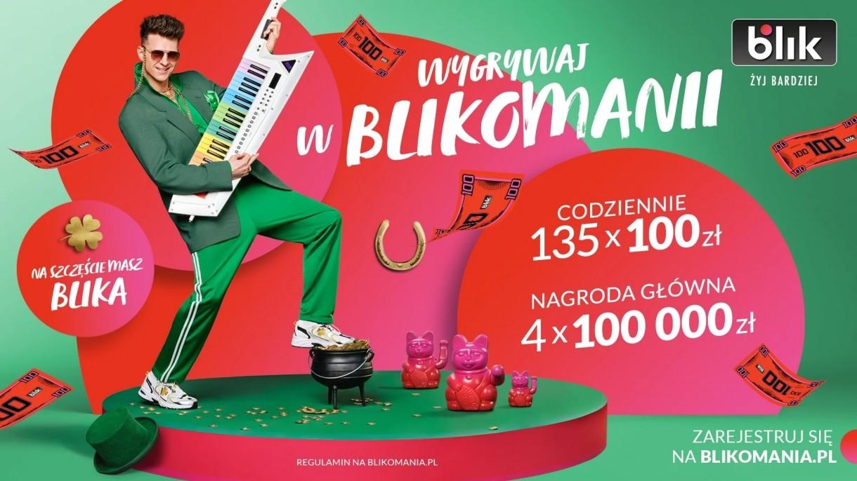Płać BLIKIEM i wygrywaj w loterii BLIKOMANIA. Do wygrania ponad 2 mln złotych
