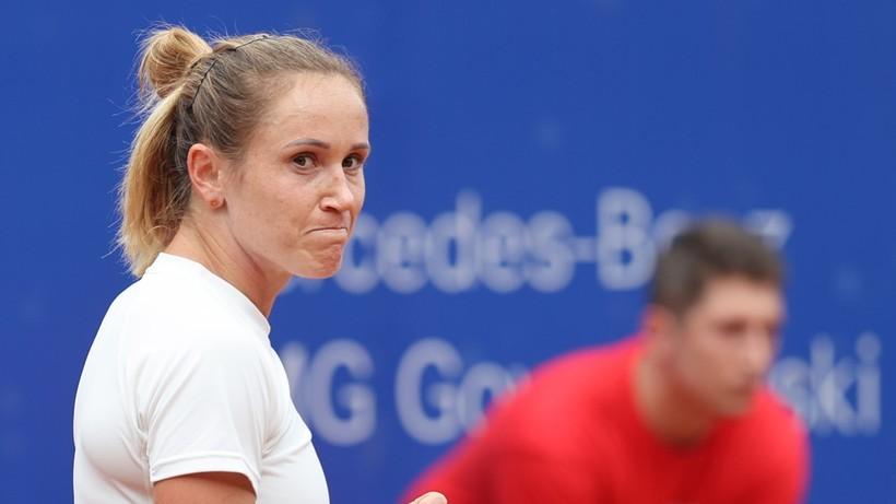 WTA w Gdyni: Ćwierćfinałowy mecz Katarzyny Kawy będzie dokończony w sobotę