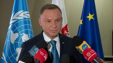 """Prezydent Andrzej Duda w ONZ. """"Przyspieszenie w relacjach międzynarodowych"""""""