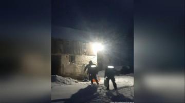 Śnieg zasypał dom. Mężczyzna został uwięziony bez jedzenia i picia