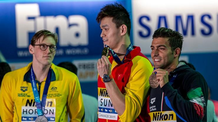 MŚ w pływaniu: Horton za protest ws. Yanga nagrodzony owacją w stołówce