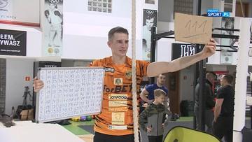 Wojciech Sobierajski pobił rekord Polski! 111 wejść po linie w ciągu godziny