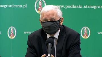 """Kaczyński zapowiada """"bardzo poważną zaporę"""" na granicy z Białorusią"""