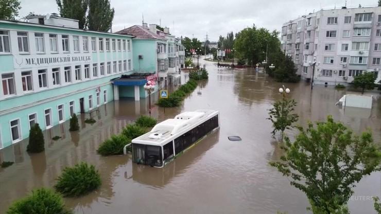 Powódź na Krymie. Nocą spadła miesięczna norma opadów