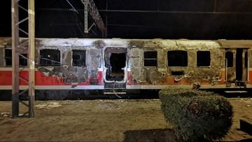 Pożar pociągu w Wielkopolsce. Spłonęły dwie trzecie składu