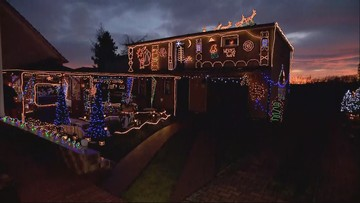 42 tys. lampek i ozdób świątecznych. Magiczny dom w Krapkowicach