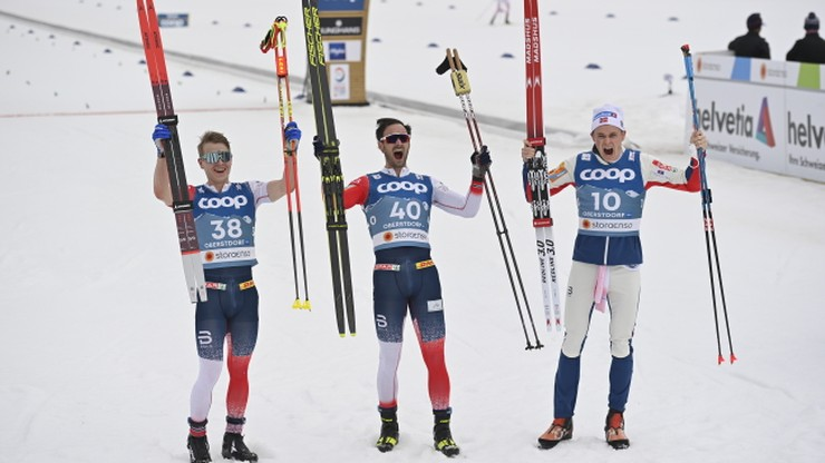 """MŚ Oberstdorf 2021: Norweskie podium na 15 km """"łyżwą"""""""