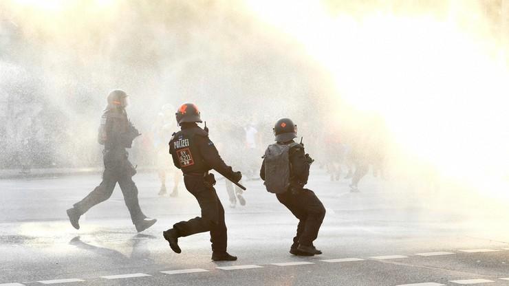 Starcia policjantów z przeciwnikami szczytu G20. Funkcjonariusz oddał ostrzegawczy strzał