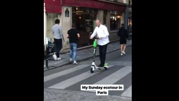 Donald Tusk promuje ekologię na Instagramie. Nie w samochodzie, ale na hulajnodze