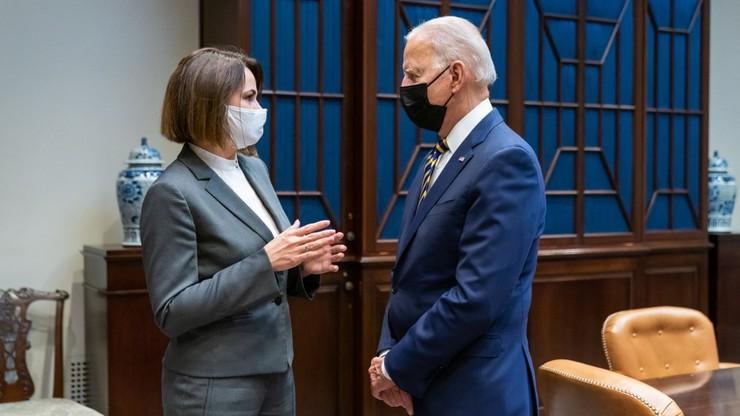Joe Biden spotkał się ze Swiatłaną Cichanouską w Białym Domu