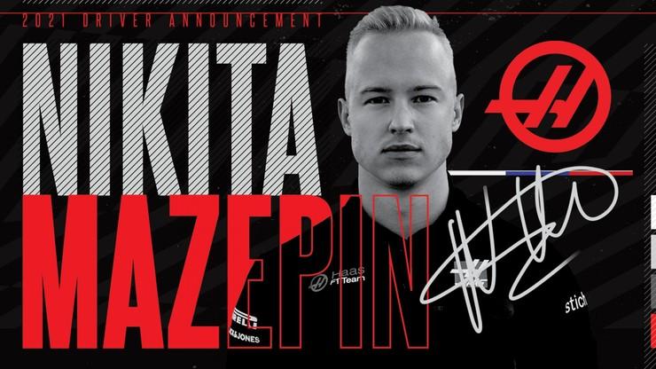 Formuła 1: Nikita Mazepin oficjalnie kierowcą zespołu Haas od 2021 roku