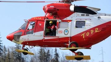 Seria wypadków turystycznych w Tatrach; ewakuacja na Rysach