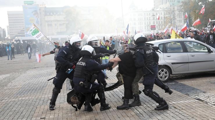 Protesty przeciwko obostrzeniom. 278 osób zatrzymanych