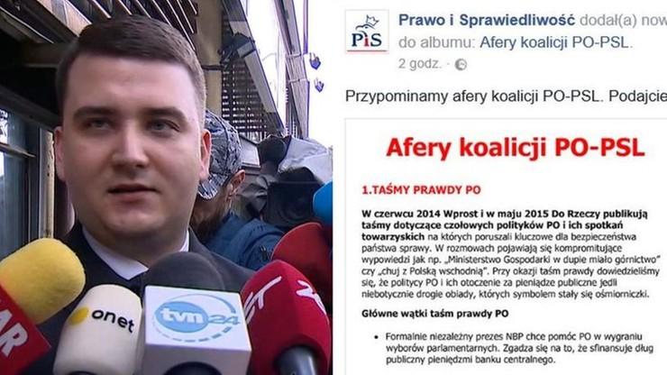 """Opozycja wytyka sprawę Misiewicza, PiS publikuje """"afery koalicji PO-PSL"""""""
