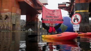 Ekolodzy z Greenpeace wdarli się na platformę wiertniczą w Norwegii