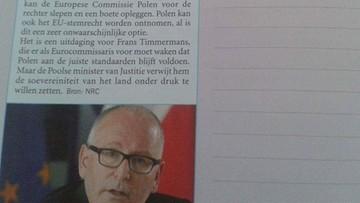 """Polska przykładem w holenderskim podręczniku - """"Jak nie należy korzystać z wolności i demokracji"""""""