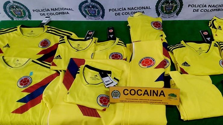 70 kg kokainy w koszulkach reprezentacji Kolumbii