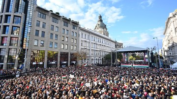 Węgry. Dziesiątki tysięcy osób na prorządowym wiecu