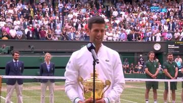 Novak Djokovic: Mam nadzieję, że moja seria jeszcze się nie zatrzyma