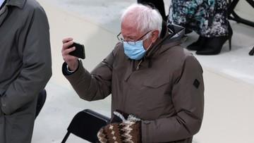 Zrobił zdjęcie Berniego Sandersa, które zamieniło się w mema. Teraz zabrał głos