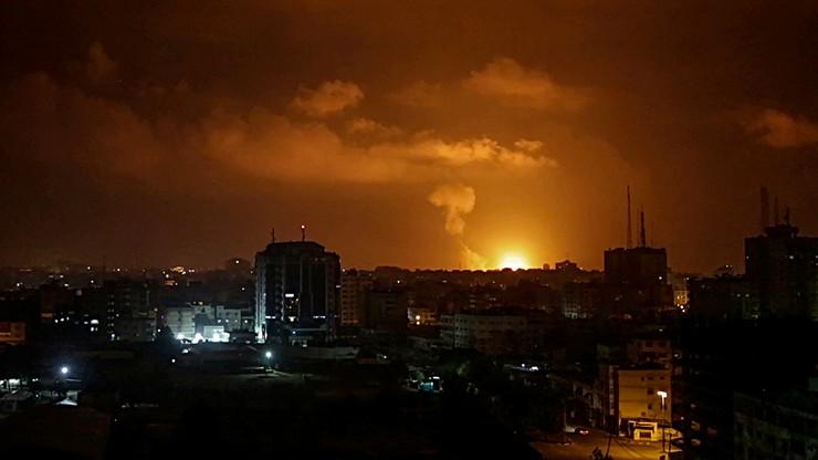 Izrael przeprowadził około 100 ataków na cele Hamasu. Odwet za wystrzelenie rakiet