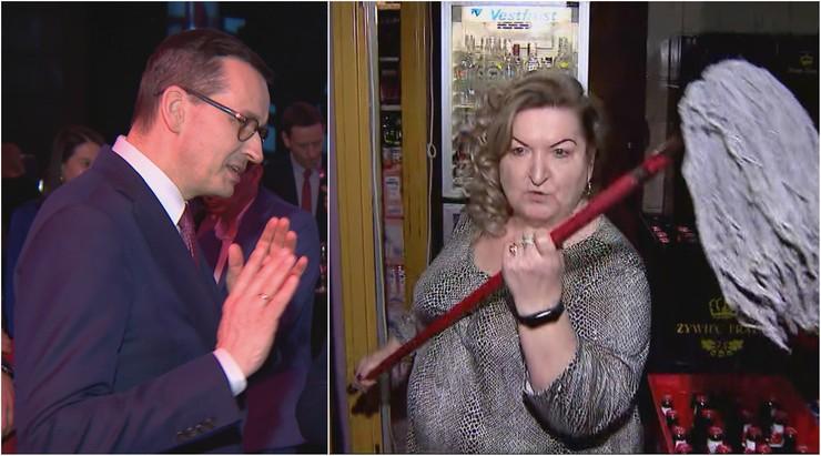 """""""Pani Zofia z Pinczyna bardzo mi zaimponowała"""". Morawiecki o ekspedientce z mopem"""