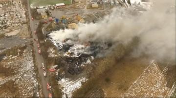 Pożar składowiska opon w Lubelskiem. Ponad 100 strażaków w akcji