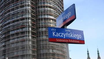 """Ulica Lecha Kaczyńskiego """"wróciła"""" na chwilę do Warszawy"""