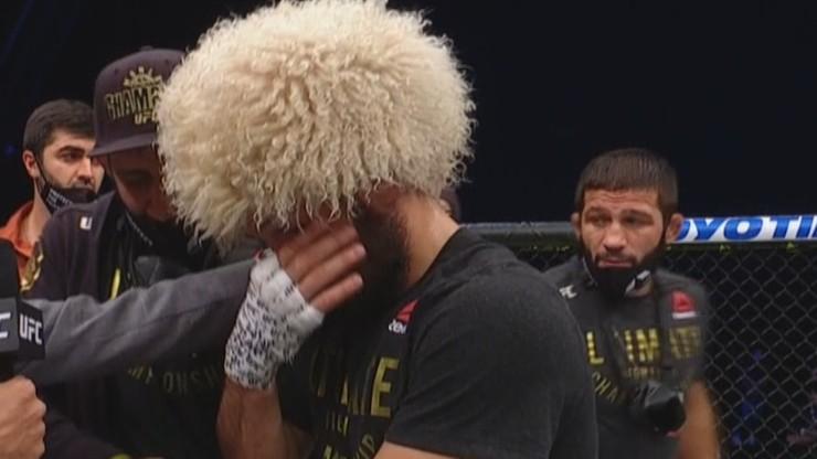 UFC 254: Khabib Nurmagomedov zakończył karierę. Pożegnały go największe gwiazdy MMA