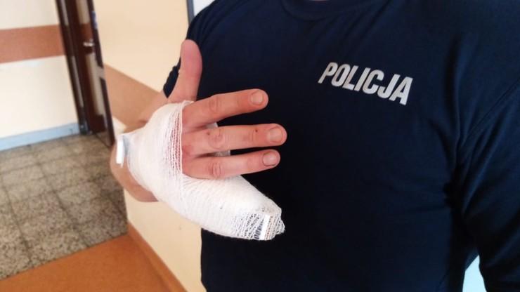 Odgryzł policjantowi palec. Pościg w centrum Poznania [WIDEO]