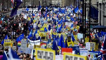 Setki tysięcy osób na proteście przeciwko brexitowi