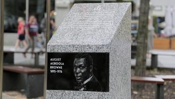 Odsłonięto pamiątkowy kamień na cześć Nigeryjczyka walczącego w Powstaniu Warszawskim