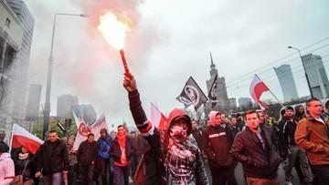 Marsz przeciw imigrantom przeszedł przez centrum Warszawy