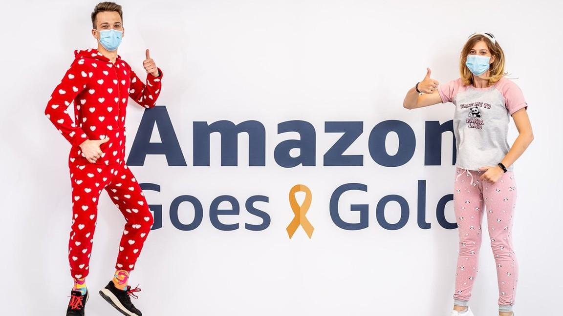 Amazon Goes Gold wspiera walkę z nowotworami dziecięcymi.