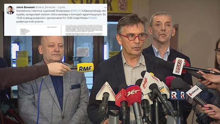 Prezydent Chełma żądał przeprosin i sprostowania od wiceprezesa ZNP. Związek: pomyłka, przepraszamy