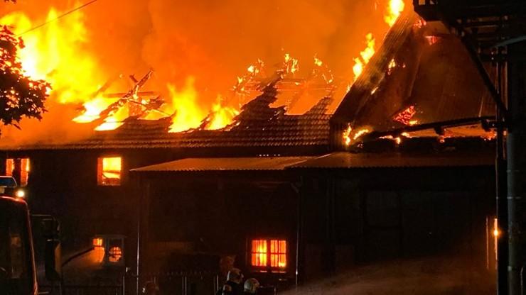 Ogromny pożar w pobliżu Wadowic. Ewakuowano Dom Pomocy Społecznej