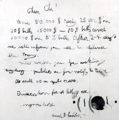 W pokoju chłopca porywacze zostawili list