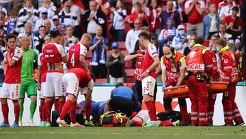 Euro 2020: Eriksen zasłabł i padł na murawę w meczu Dania - Finlandia