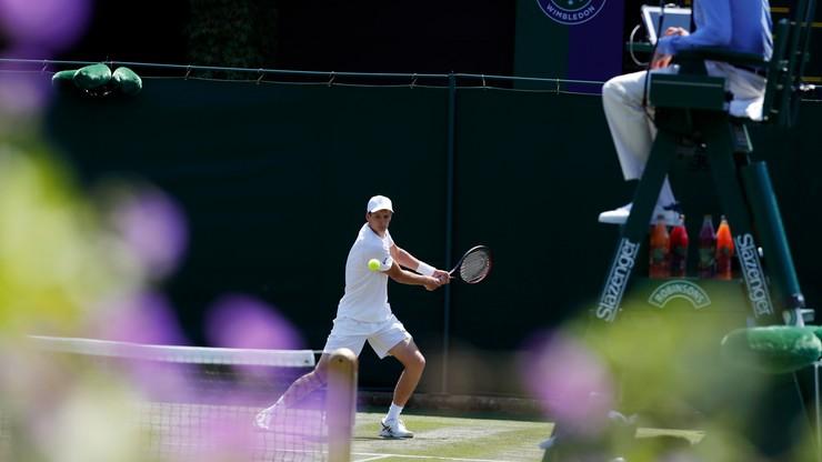 Wimbledon: Hurkacz przyznaje, że zabrakło mu doświadczenia w grze na trawie